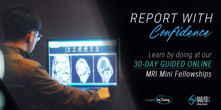 online radiology conference course mri fellowship