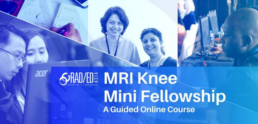 KNEE MRI ONLINE MSK COURSE GUIDED LEARNING MAY 2021